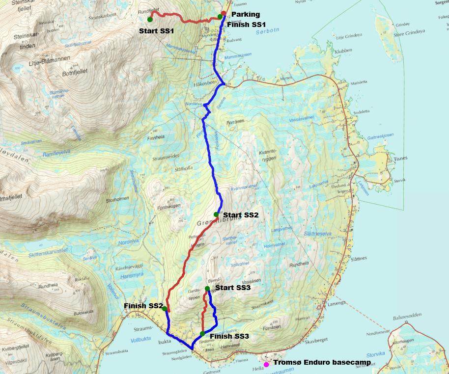 Tromsø Enduro 2013 trailmap